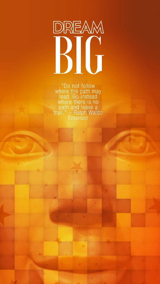 Dream Big web graphic